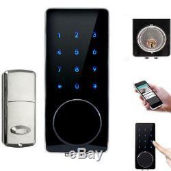 Bluetooth Numérique Intelligent De Verrouillage De Porte Sécurité À La Maison Sans Clé Tactile Passe À Pêne Dormant