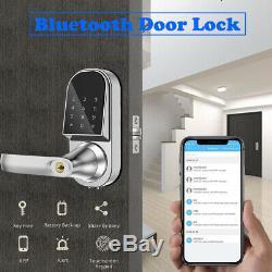 Bluetooth Smart Verrouillage De Porte Sans Clé Contrôle App Entrée Sans Clé Pour Porte Avant