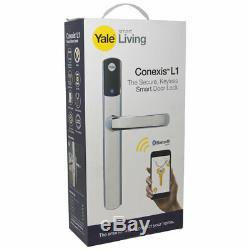 Bnib Yale Conexis L1 Serrure De Porte Intelligente Poignée De Sécurité Sans Clé Bluetooth, Chrome