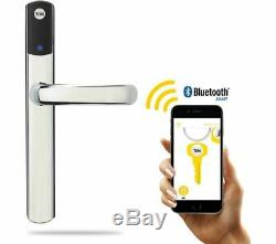 Bnib Yale Conexis L1 Smart Serrure De Porte Chrome Sans Clé Poignée De Sécurité Bluetooth