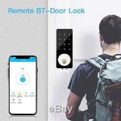 Bt-smart De Verrouillage De Porte Sans Clé Accueil Mot De Passe Numérique À Pêne Dormant Électronique Téléphone Clé
