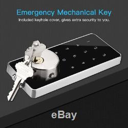 Bt-smart Door Lock À Pêne Dormant À Écran Tactile Clavier Numérique De Sécurité Sans Clé Sas D'entrée