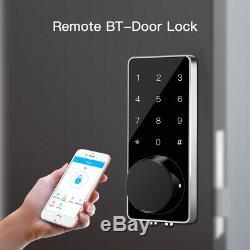 Bt-smart Door Lock Home Sécurité Sans Clé À Pêne Dormant Électronique Numérique Entrée Clé