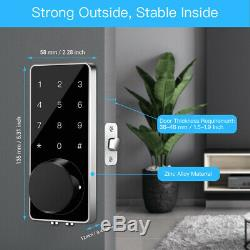 Bt-smart Door Lock Home Sécurité Sans Clé App Code Électronique À Écran Tactile D'entrée