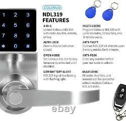 Colosse Ndl319 Keyless Electronic Trusted Digital Smart Door Lock, Clavier