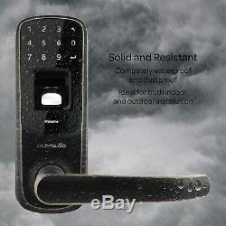 Écran Tactile Clavier Smart Lock Vieilli Sans Clé Bronze Accueil Entrée Avec Téléphone