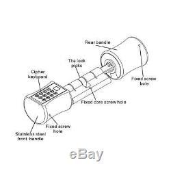 Électronique Intelligent Cylindre De Verrouillage De Porte D'empreintes Digitales Mot De Passe Vocale Clé Pour Le Modèle De L'ue