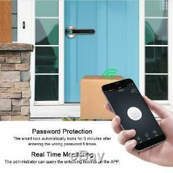 Électronique Intelligent De Verrouillage De Porte D'empreintes Digitales Poignée Mot De Passe Bluetooth Sans Clé Usb App