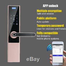 Électronique Intelligent De Verrouillage De Porte Numérique Sans Clé Mot De Passe D'empreintes Digitales App Sécurité