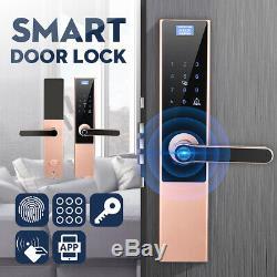 Électronique Intelligent De Verrouillage De Porte Sans Clé Numérique Mot De Passe D'empreintes Digitales App