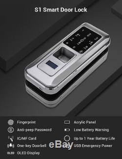 Empreinte Digitale Intelligente Porte Serrure Maison Sonnette Sans Clavier Mot De Passe Code Clavier Biométrique