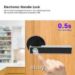 Empreinte Métallique Électronique Smart Poignée Serrure De Porte Maison Sécurité Keyless Usb