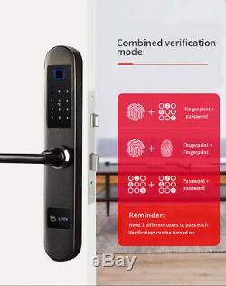 Empreintes Digitales Intelligente De Verrouillage De Porte Accueil Mot De Passe Sans Clé De Sécurité Électronique Biométrique
