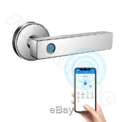 Empreintes Digitales Intelligente De Verrouillage De Porte Biométrique Sans Clé Wifi Bluetooth App Unlock