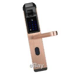 Empreintes Digitales Tactile Sans Clé Intelligent Levier De Verrouillage De Porte Accueil Bronze Sécurité