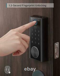 Eufy Security Smart Lock Fingerprint Touch Scanner Keyless Black T8510111 Nouveau