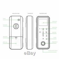 Free Dhl Verre Smart Door Bureau De Verrouillage Sans Clé Électronique D'empreintes Digitales De Verrouillage