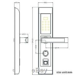 Gratuit Dhlbiometric Intelligent D'empreintes Digitales De Verrouillage Numérique Écran Tactile Sans Clé De Verrouillage De Porte