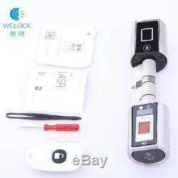 Gratuit Dhllock Cylindre Sans Clé Smart Home De Serrure Biométrique D'empreintes Digitales App