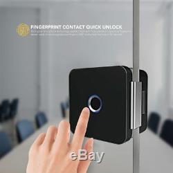 Gratuit Dhlsherlock Verre Smart Verrouillage Sans Clé De Verrouillage De Porte D'empreintes Digitales Vérification