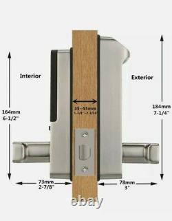 Harfo F01 Empreinte Digitale Et Écran Tactile Serrure De Porte Sans Clé Smart Lever