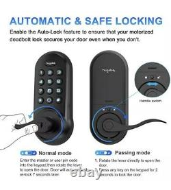 Hugolog Smart Electronic Lever Door Lock Keyless Entry Keypad Or Key Black