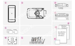 Keyless Lock Milre Mi-460t Digital Doorlock Smart Security Entry Mot De Passe +4 Rfid