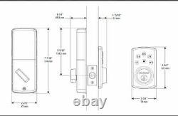 Kwikset 99070-103 Powerbolt 2 Serrure De Porte Simple Cylindre Électronique Sans Clé