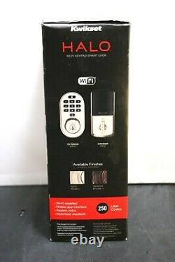Kwikset 99380-001 Halo Wi-fi Smart Lock Entrée Sans Clé Clavier Électronique Deadbolt