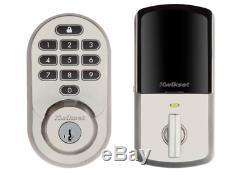 Kwikset 99380-001 Halo Wi-fi Smart Lock Entrée Sans Clé Smartkey En Nickel Satiné