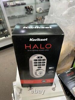 Kwikset 99380-001 Halo Wi-fi Smart Lock Keyless Entry, Satin Nickel Brand Nouveau