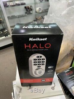 Kwikset 99380-001 Halo Wi-fi Smart Lock Keyless Entry, Satin Nickel Tout Neuf