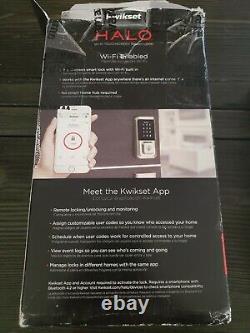Kwikset 99380-002 Halo Wi-fi Smart Lock Keyless Entrée Clavier Électronique Deadbolt