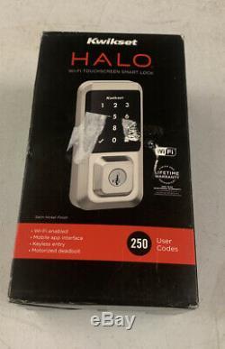 Kwikset 99390-001 Halo Wi-fi Smart Lock Sans Clé Électronique À Écran Tactile