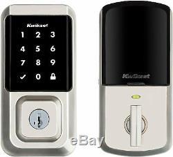 Kwikset Halo 939 Wi-fi Smart Lock Sans Clé Tactile Pêne Dormant En Nickel Satiné Nouveau