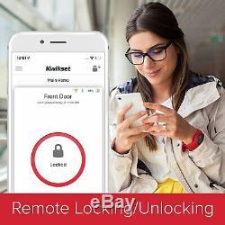 Kwikset Halo 99380-001 Wi-fi Smart Lock Sans Clé Clavier À Pêne Dormant En Nickel Satiné Nouveau