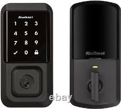 Kwikset Halo 99390-004 Wi-fi Touchscreen Smart Lock Keyless Entrée (noir De Fer)