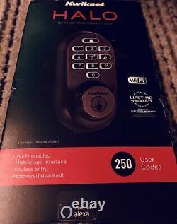 Kwikset Halo Wi-fi Smart Lock Keyless Entry Brand New Sealed- Venetian Bronze