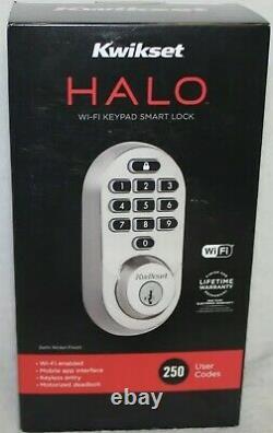 Kwikset Halo Wi-fi Smart Lock Keyless Entry Marque New- Satin Nickel