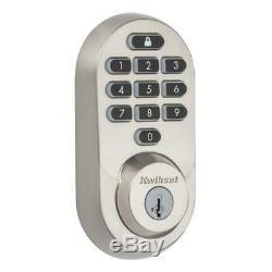 Kwikset Halo Wi-fi Smart Lock Sans Clé Satin Entrée Terminer Pêne Dormant 99380-001