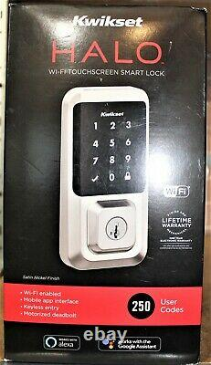 Kwikset Halo Wifi Smart Lock Keyless Entrée Écran Tactile Satin Nickel #99390-001