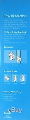 Kwikset Revo Smart Lock Kit De Conversion Alexa Bluetooth Sans Clé À Pêne Dormant Bronze