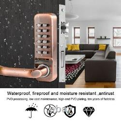 Mechanical Smart Digital Door Lock Home Keypad Keyless Password Waterproof