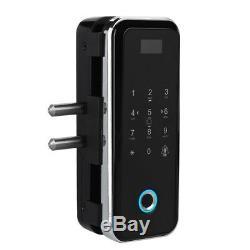 Mot De Passe D'empreintes Digitales Intelligente De Verrouillage De Porte Tactile / Télécommande De Contrôle D'accès Sans Clé En Verre