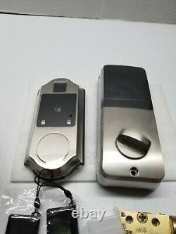 Narpult Empreinte De Doigt Smart Lock, Verrouillage De Porte D'entrée Sans Clé, Deadbolt Électronique