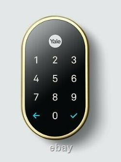 Nest X Yale -keyless Smart Lock Avec Nest Connect Laiton Poli Rb-yrd540