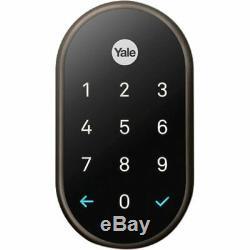 Nest Yale Smart Lock Système De Verrouillage À Pêne Dormant Pour Entrée Sans Clé Bronze Huilé