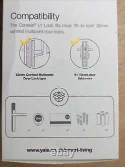 New Yale Conexis L1 Keyless Smart Door Lock Noir