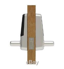 Newultraloq Ul3 Empreintes Digitales Et Écran Tactile Sans Clé Intelligent De Verrouillage De Porte, Nickel Satiné