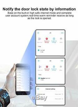 Nouveau L5 Wifi Bluetooth D'empreintes Digitales Lock, Puce Électronique Sans Clé De Porte D'entrée